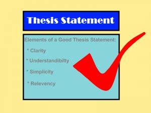 Thesis Statement Mini-Lesson - Brooklyn College
